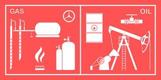 Πετρέλαιο, εξοπλισμός βιομηχανίας φυσικού αερίου Εξαγωγή, αποθήκευση απεικόνιση αποθεμάτων