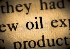 Πετρέλαιο λέξης Στοκ εικόνα με δικαίωμα ελεύθερης χρήσης