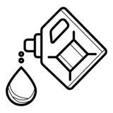 Πετρέλαιο μηχανών Δοχεία εικονιδίων του πετρελαίου μηχανών διανυσματική απεικόνιση
