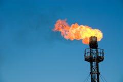 πετρέλαιο φλογών Στοκ εικόνα με δικαίωμα ελεύθερης χρήσης