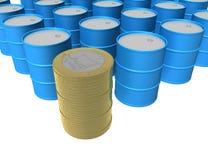 πετρέλαιο 3 νομίσματος απεικόνιση αποθεμάτων