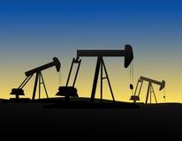 πετρέλαιο derrics Στοκ φωτογραφίες με δικαίωμα ελεύθερης χρήσης
