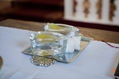 Πετρέλαια βαπτίσματος Στοκ Φωτογραφίες