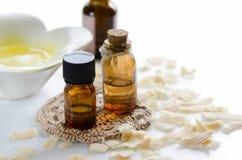 Πετρέλαια Aromatherapy για την επεξεργασία ομορφιάς Στοκ φωτογραφία με δικαίωμα ελεύθερης χρήσης
