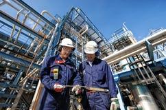Πετρέλαιο, αέριο, σωληνώσεις και εργαζόμενοι Στοκ Εικόνες