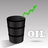 Πετρέλαιο επάνω στην πράσινη eps 10 βελών απεικόνιση Στοκ φωτογραφία με δικαίωμα ελεύθερης χρήσης