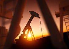 Πετρέλαιο και βιομηχανία δύναμης Στοκ Εικόνα