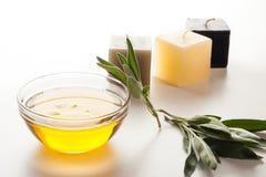 Πετρέλαιο και κεριά Aromatherapy Στοκ φωτογραφία με δικαίωμα ελεύθερης χρήσης