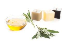 Πετρέλαιο και κεριά Aromatherapy Στοκ Εικόνες