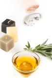 Πετρέλαιο και κεριά Aromatherapy Στοκ Φωτογραφίες