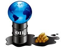 Πετρέλαιο και χρυσός και γη Στοκ Φωτογραφία