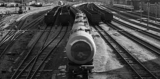 Πετρέλαιο σταθμών τρένου Στοκ Φωτογραφία