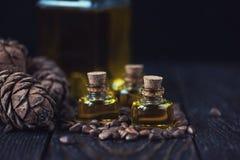 Πετρέλαιο των καρυδιών κέδρων Στοκ Φωτογραφίες