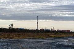 Πετρελαιοφόρος περιοχή στη Σιβηρία στοκ φωτογραφία