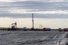 Πετρελαιοφόρος περιοχή στη Σιβηρία στοκ εικόνες