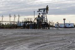 Πετρελαιοφόρος περιοχή στη Σιβηρία στοκ εικόνα με δικαίωμα ελεύθερης χρήσης