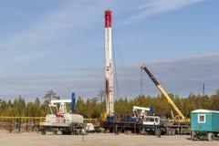 Πετρελαιοφόρος περιοχή στη Σιβηρία στοκ φωτογραφία με δικαίωμα ελεύθερης χρήσης