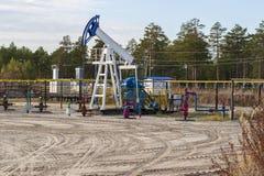Πετρελαιοφόρος περιοχή στη Σιβηρία στοκ φωτογραφίες