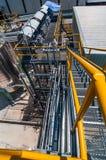 Πετρελαιαγωγός διαδικασίας δομών μορφής πιάτων Στοκ φωτογραφία με δικαίωμα ελεύθερης χρήσης
