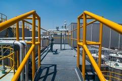 Πετρελαιαγωγός διαδικασίας δομών μορφής πιάτων Στοκ Εικόνες