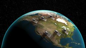 Πετρελαιοφόρος περιοχή στη Βόρεια Αμερική ελεύθερη απεικόνιση δικαιώματος