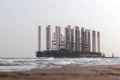 Πετρελαιοφόρος περιοχή στη Κασπία Θάλασσα Στοκ εικόνα με δικαίωμα ελεύθερης χρήσης