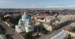 Πετρούπολη Άγιος Ρωσία Καθεδρικός ναός τριάδας απόθεμα βίντεο