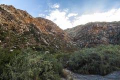 Πετρώδης έρημος Klein Karoo στη Νότια Αφρική Στοκ Φωτογραφία