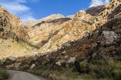Πετρώδης έρημος Klein Karoo στη Νότια Αφρική Στοκ φωτογραφία με δικαίωμα ελεύθερης χρήσης