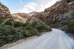 Πετρώδης έρημος Klein Karoo στη Νότια Αφρική Στοκ Εικόνες
