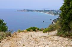 Πετρώδης πορεία στο νησί της Κέρκυρας, Ελλάδα Στοκ φωτογραφία με δικαίωμα ελεύθερης χρήσης