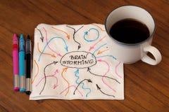 πετσέτα έννοιας 'brainstorming' Στοκ Εικόνα