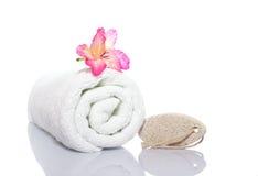 πετσέτα ελαφροπετρών gladiola στοκ φωτογραφία