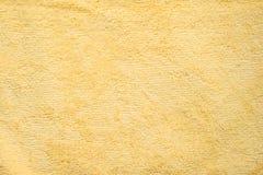 πετσέτα κίτρινη Στοκ Φωτογραφίες