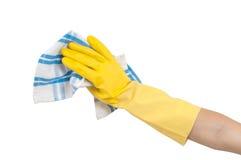 Πετσέτα κουζινών για την εργασία σπιτιών Στοκ φωτογραφίες με δικαίωμα ελεύθερης χρήσης