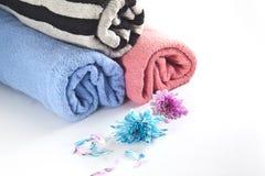 Πετσέτα με τα λουλούδια Στοκ Φωτογραφία
