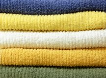Πετσέτες βαμβακιού στοκ φωτογραφίες με δικαίωμα ελεύθερης χρήσης