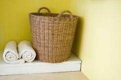 πετσέτες καλαθιών Στοκ Φωτογραφία