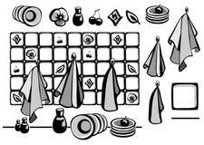 Πετσέτες κουζινών Στοκ Εικόνα