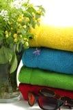 πετσέτες λουλουδιών Στοκ φωτογραφίες με δικαίωμα ελεύθερης χρήσης