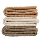 Πετσέτες λουτρών απομονωμένος Στοκ εικόνες με δικαίωμα ελεύθερης χρήσης