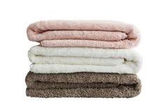 Πετσέτες λουτρών απομονωμένος Στοκ φωτογραφία με δικαίωμα ελεύθερης χρήσης
