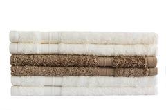 Πετσέτες λουτρών απομονωμένος Στοκ φωτογραφίες με δικαίωμα ελεύθερης χρήσης
