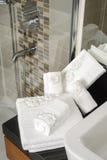 Πετσέτες λουτρών Στοκ φωτογραφίες με δικαίωμα ελεύθερης χρήσης