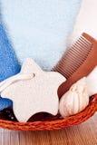 πετσέτες πετρών ποδιών κα&lambd Στοκ Εικόνες