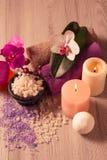 πετσέτες πετρών χαβιαριών σωμάτων λουτρών εξαρτημάτων gem milk soap spa αλατισμένο σαπούνι θάλασ&s Στοκ Εικόνα
