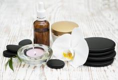 πετσέτες πετρών χαβιαριών σωμάτων λουτρών εξαρτημάτων gem milk soap spa Στοκ Εικόνα