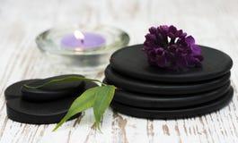 πετσέτες πετρών χαβιαριών σωμάτων λουτρών εξαρτημάτων gem milk soap spa Στοκ Εικόνες