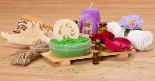 πετσέτες πετρών χαβιαριών σωμάτων λουτρών εξαρτημάτων gem milk soap spa Στοκ Φωτογραφίες