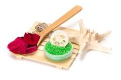 πετσέτες πετρών χαβιαριών σωμάτων λουτρών εξαρτημάτων gem milk soap spa Στοκ φωτογραφίες με δικαίωμα ελεύθερης χρήσης